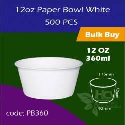 19.Paper Bowl White 12oz 360ml白碗500PCS