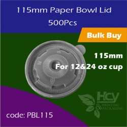 21.Paper Bowl Lid 115mm 盖500PCS