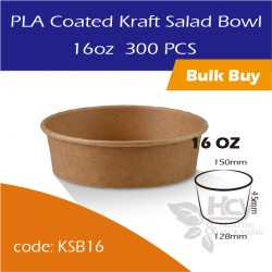 22.PLA Coated Kraft Salad Bowl 16oz沙拉纸碗