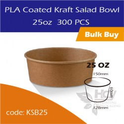23.PLA Coated Kraft Salad Bowl 25oz沙拉纸碗300PCS