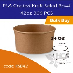25.PLA Coated Kraft Salad Bowl 42oz沙拉纸碗300PCS