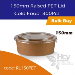 26.Raised PET Lid 150mm / Cold Food沙拉纸碗盖300PCS