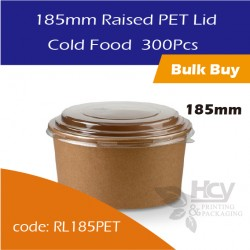 27.Raised PET Lid 185mm / Cold Food沙拉纸碗盖300PCS