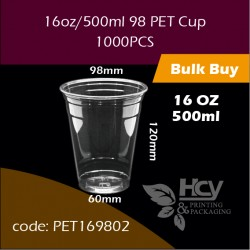 04.PET Cup16oz/500ml 98 冷饮胶杯1000PCS