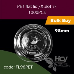 09.PET flat lid /X slot98透明平盖1000PCS