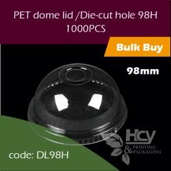13.PET dome lid /Die-cut hole 98H透明拱盖 圆啤孔1000PCS