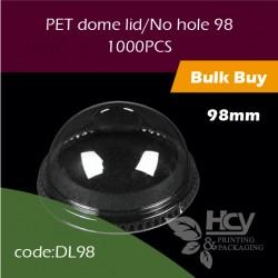 14.PET dome lid/No hole 98透明拱盖 无孔1000PCS