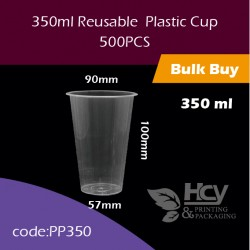 17.Reusable  Plastic Cup350ml 注塑光杯1000PCS