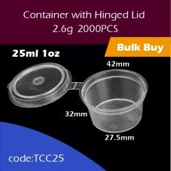 20.Container with Hinged Lid25ml 1oz 连体杯2000PCS