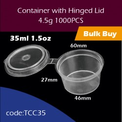 21.Container with Hinged Lid1.5oz连体杯1000PCS