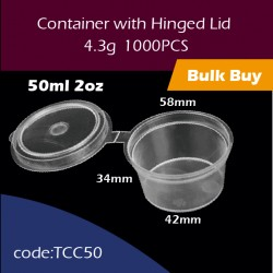 22.Container with Hinged Lid 2oz连体杯1000PCS