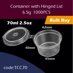 23.Container with Hinged Lid2.5oz连体杯1000PCS