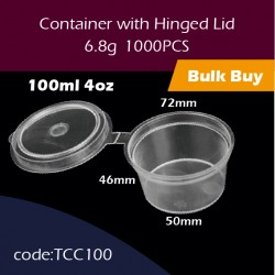 24.Container with Hinged Lid 4oz连体杯1000PCS