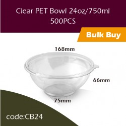 26.Clear PET Bowl 24oz/750ml透明冻食胶碗500PCS