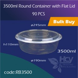 16. 3500ml Round Container with Flat Lid平盖圆盘90PCS