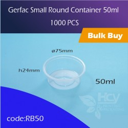 21. Gerfac Small Round Container 50ml 小圆胶盒1000PCS