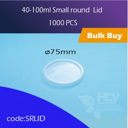 24. 40-100ml Small round  Lid 小圆胶盒盖1000PCS