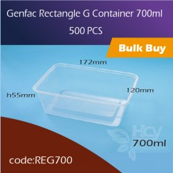 27.Genfac Rectangle G Container 700ml方胶盒500pcs