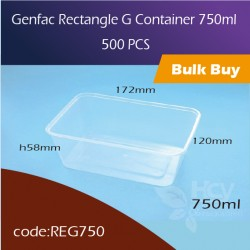 28.Genfac Rectangle G Container 750ml方胶盒500pcs