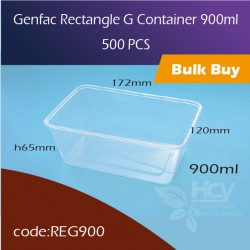 29.Genfac Rectangle G Container 900ml方胶盒500pcs