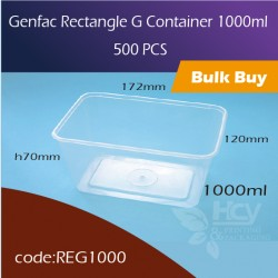 30.Genfac Rectangle G Container 1000ml方胶盒500pcs