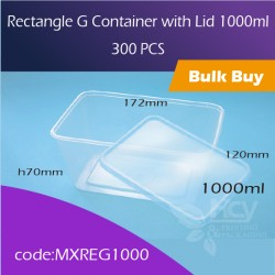 35.Rectangle G Container with Lid 1000ml方胶盒连盖300pcs