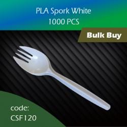 01.PLA Spork White 1000pcs