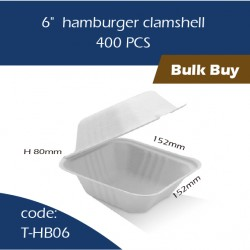 "09-6""  hamburger clamshell400pcs"
