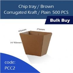 30-Chip tray/Brown Corrugated Kraft/Plain 纸托500pcs